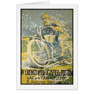Circuito Motociclistico-1924 - apenado Tarjeta De Felicitación