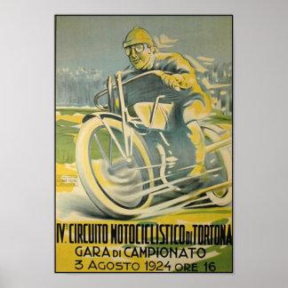 Circuito Motociclistico-1924 Póster