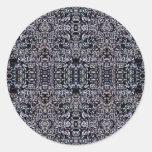 Circuitos 4 del negro pegatina redonda