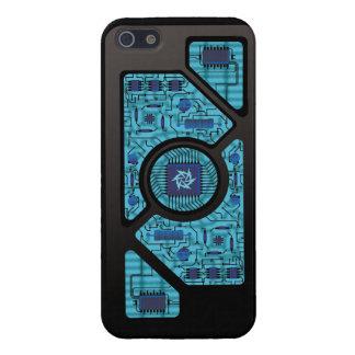 Circuitos azules del choque iPhone 5 carcasas