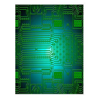 circuitos de los conductores del tablero tarjeta postal