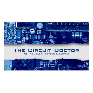 Circuitos electrónicos de la tarjeta de visita de