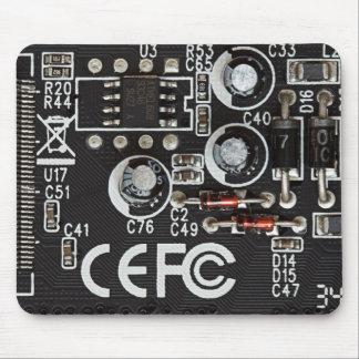 Circuitos integrados alfombrilla de raton