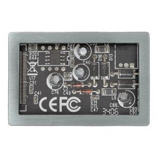 Circuitos integrados hebillas cinturón rectangulares