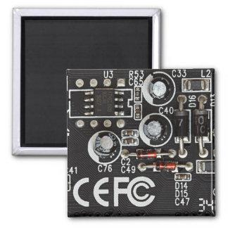 Circuitos integrados imán cuadrado