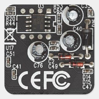 Circuitos integrados pegatina cuadrada