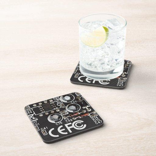 Circuitos integrados posavasos de bebidas