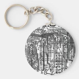 circuitry chain basic round button keychain