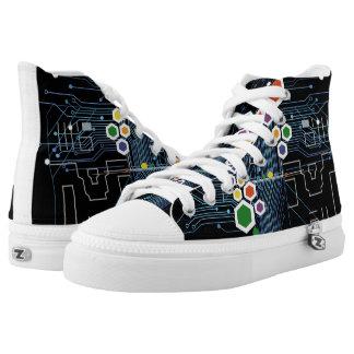 Circuitry High-Top Sneakers