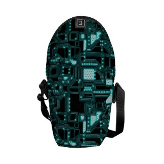 Circuitry Pattern Courier Bag