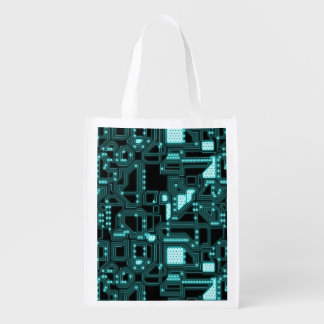 Circuitry Pattern Market Tote