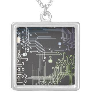 Circuitry Square Pendant Necklace