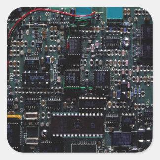 Circuitry Square Sticker