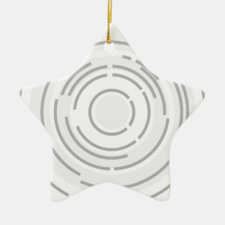 Circular Abstract Background Ceramic Ornament