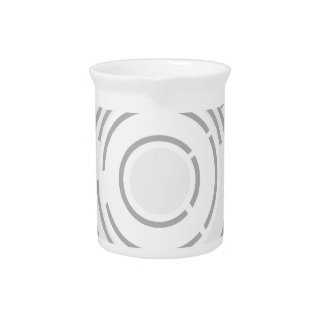 Circular Abstract Background Drink Pitcher