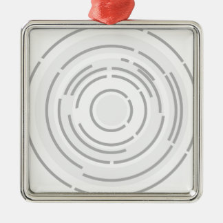 Circular Abstract Background Metal Ornament
