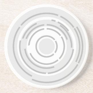 Circular Abstract Background Sandstone Coaster
