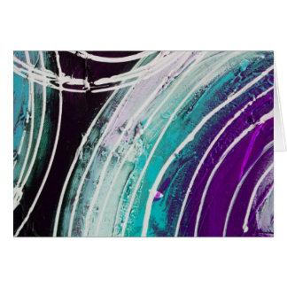 Circular Abstract Painting Greeting Card