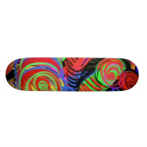 Circular Abstract Pattern Skateboard