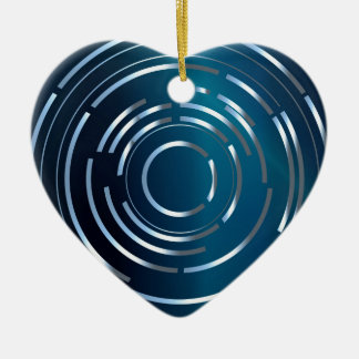 Circular Background Ceramic Ornament
