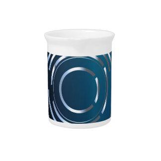 Circular Background Drink Pitcher