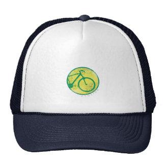 circular bicycle green trucker hats