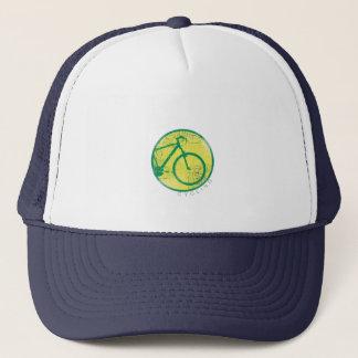circular bicycle green trucker hat