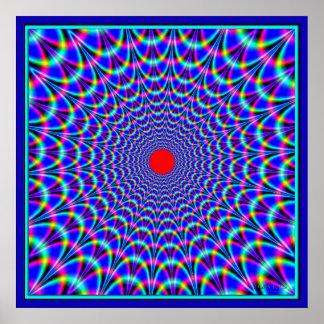 Circular Blue Waves Attack Poster