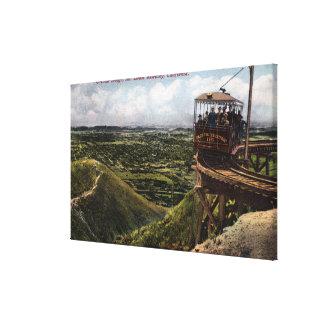 Circular Bridge Pacific Railway View Canvas Print