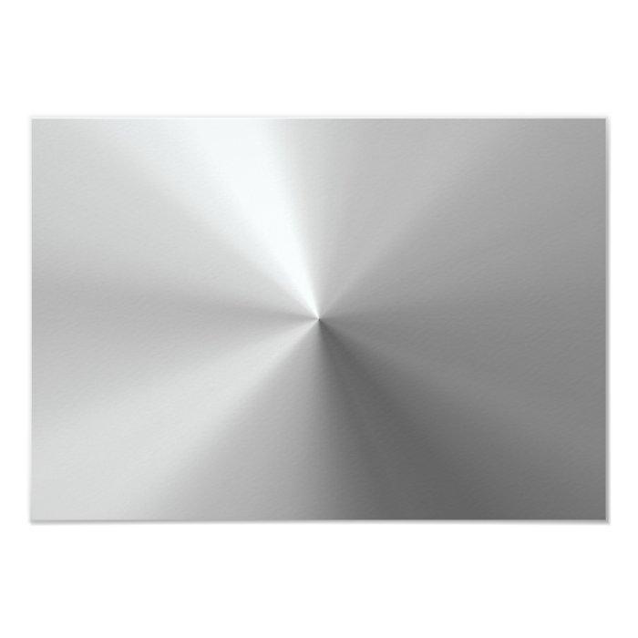 Circular Brushed Aluminum Textured Card