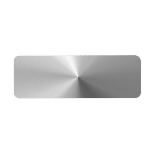 Circular Brushed Aluminum Textured Label