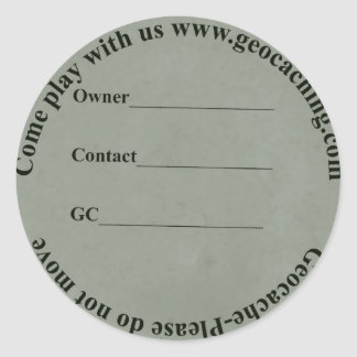 Circular cache lable classic round sticker