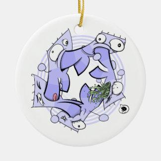 Circular Cannibalism Ceramic Ornament