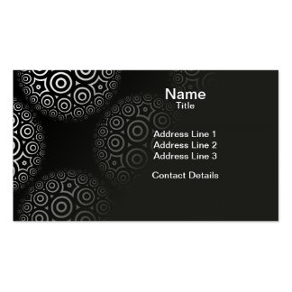 Circular Circle Limit Tiled Pattern Double-Sided Standard Business Cards (Pack Of 100)