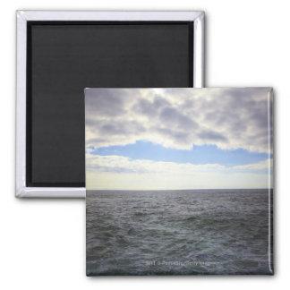 Circular Clouds over the Atlantic Ocean 2 Inch Square Magnet