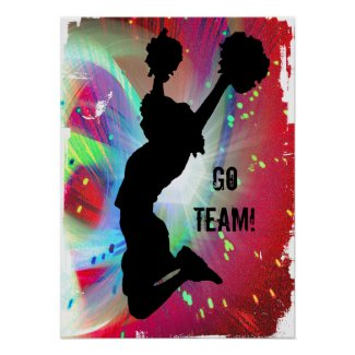 Go Team! Motivational Pep Cheer Cheerleader poster Print