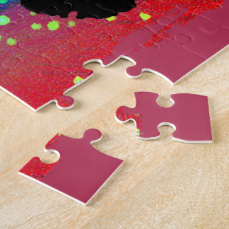 Circular Colorburst with Cheerleader Jigsaw Puzzles