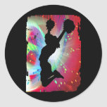 Circular Colorburst with Cheerleader Sticker