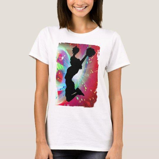 Circular Colorburst with Cheerleader T-Shirt