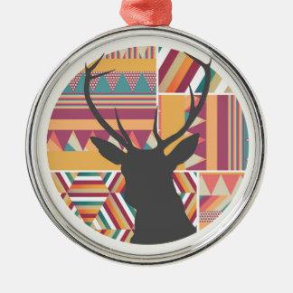 Circular Deer Metal Ornament