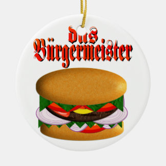 circular del das Burgermeister Adorno Navideño Redondo De Cerámica
