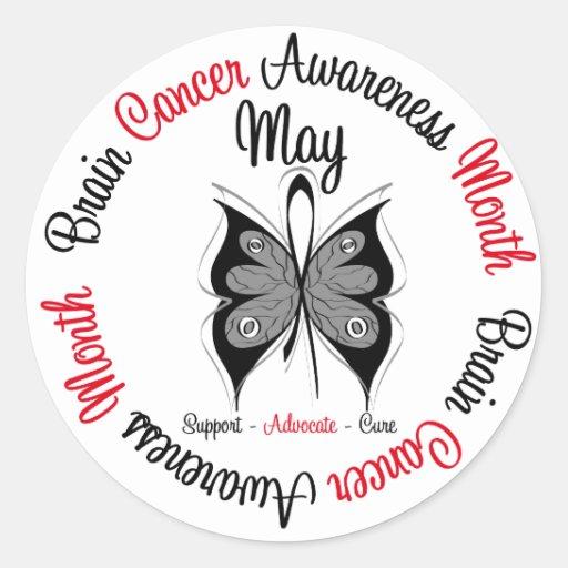 Circular del mes de la conciencia del cáncer de etiqueta redonda
