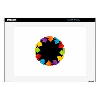 """Circular design element 15"""" laptop skins"""