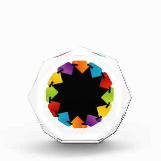 Circular design element acrylic award