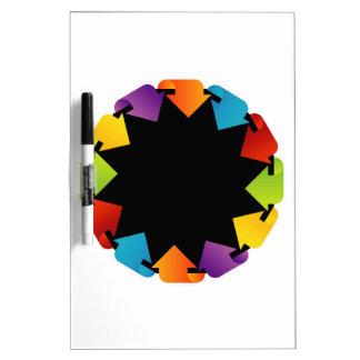 Circular design element Dry-Erase board