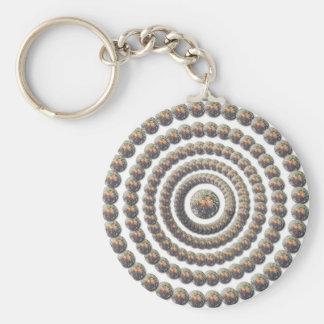 Circular Design of Desert Globemallow Key Chain