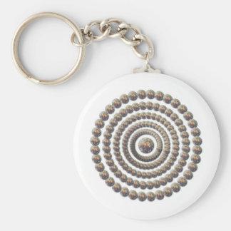 Circular Design of Desert Globemallow Keychain