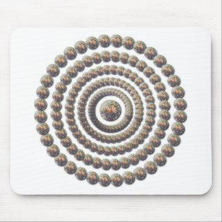 Circular Design of Desert Globemallow Mouse Pad