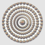 Circular Design of Desert Globemallow Round Stickers