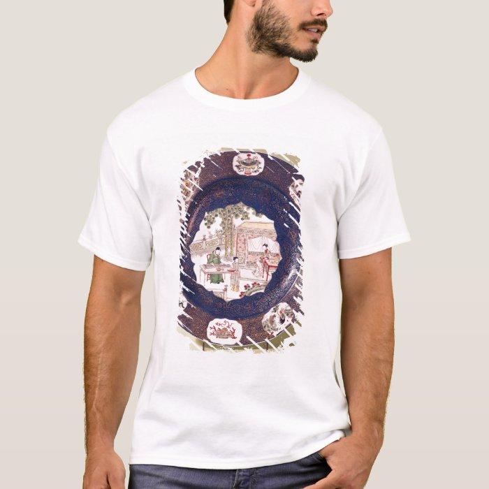 Circular dish with a musical scene T-Shirt